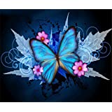 EOBROMD DIY 5D Diamond Painting by Number Kits, Full Drill Crystal Rhinestone Embroidery Pictures Arts Craft for Home Wall De