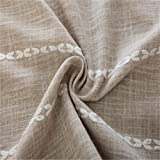 Striped Embroidery Decorative Tablecloth Wedding Table Cover Dining Table Cloth (Coffee 60x60cm/23.6x23.6inch)