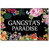 """DayliPillow Gangsta's Paradise Flower Doormat Funny Welcome Mat Floor Mat Rug Indoor Outdoor Front Door Bathroom Mats 23.6"""" x"""