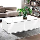 Artiss High Gloss Coffee Table White- 95(L) x 60(W) x 31(H) cm
