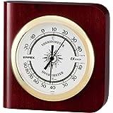 エンペックス気象計 温度湿度計 カスタム温湿度計 置き掛け兼用 日本製 ブラウン TM-681
