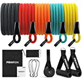 PROIRON Resistance Bands Set 14 Pieces Anti-Snap Resistance Band Exercise with Handles, Door Anchor, Ankle Straps, Training M