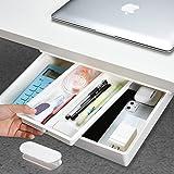 Desk Drawer[Large], GGIANTGO Under Desk Storage, Set for Office/Bedroom/Schoolroom/Kitchen, Self-Adhesive Under Desk Drawer f