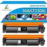 TRUE IMAGE Compatible Toner Cartridge Replacement for HP 30A CF230A 30X CF230X Laserjet Pro MFP M227fdw M203dw M227fdn M203d