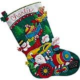 BUCILLA 86708 Choo Santa Stocking Kit