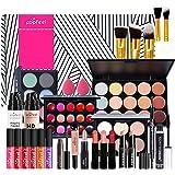 Joyeee All-in-One Makeup Gift Set Travel Makeup Kit Complete Starter Makeup Bundle Lipgloss Lipstick Concealer Blushes Powder