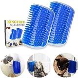 Kingtree Cat Self Groomer, 2 Pack Cats Corner Groomer Wall Corner Massage Comb Grooming Brush Perfect Massager Tool for Long