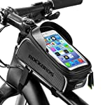 ROCKBROS Bike Front Frame Bag Cycling Waterproof Top Tube Frame Pannier Mobile Phone Touch Screen Holder Bike Bag Fits...