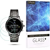 BECROWM Tempered Glass Screen Protector 9H Hardness Protective Glass Compatible with Fossil Carlyle HR(Gen 5),2.5D Full Cover