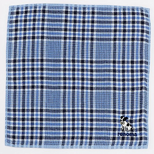 レノマ(雑貨)(renoma) 【25×25cm】タオルハンカチ(メンズ)【ブルー/**】