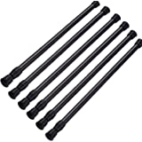 """SIQUK 6 Pack Cupboard Bars Adjustable Spring Tension Rods White Refrigerator Bar Extendable Rod for DIY Projects, 15.7"""" to 28"""