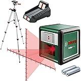 Bosch Self-Levelling Cross Line Laser Set Quigo Plus Tripod (MM2 Mount, 2 x AAA Batteries Included in Box)