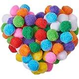 PandaHall Elite 約250個 30mm おもちゃ セット フェルト玉 ボール カラフル ポンポン ボール 飾り DIY用 混合色 手芸パーツ 素材 結婚式 誕生日 パーティー ウェディング