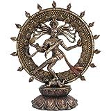 Hindu Shiva Nataraja Dancing Statue Bronze Finished