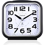 """5.5"""" Silent Analog Alarm Clock Non Ticking, Gentle Wake, Beep Sounds, Increasing Volume, Battery Operated Snooze and Light Fu"""