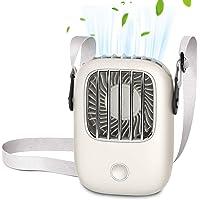 【2020新モデル 上部送風】 携帯扇風機 首掛け扇風機 手持ち 卓上 扇風機 usb充電式 ハンズフリー扇風機 3段階…