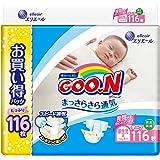 【テープ 新生児サイズ】グーン まっさらさら通気 (お誕生~5kg) 116枚