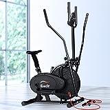Everfit Exercise Bike Elliptical Cross Trainer 120kg Capacity Flywheel Resistance Adjustable Reversible 2-Way Movement Bonus