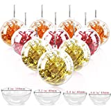 Jangostor 20 Pack Clear Ornaments Balls, 40, 60, 80, 100mm Christmas Ornaments Ball to Fill, DIY Plastic Fillable Christmas D