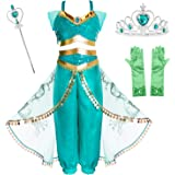 Joy Join Princess Jasmine Costume Outfit for Toddle Girls