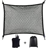 Premium Quality Adjustable Elastic Cargo Net Universal Stretchable Truck Net with Hooks,Storage Bag for Car, SUV, Truck, Pick