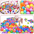 Gaorui 200 Pcs Balls Pit Balls Colorful BPA Ocean Ball Free Crush Proof with Mesh Bag for Toddlers Baby Playpen Bouncy Castle