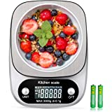 Digital Kitchen Food Scale 3000g/0.1g Multifunction Weight Scale Gram Ounces, Electronic Jewelry Scale High Precision LCD Dis