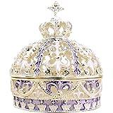 < クラウン (バイオレット) シルバー×パープル 王冠 > ピィアース 宝石箱 ジュエリーボックス