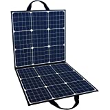 FlashFish ソーラーチャージャー ソーラーパネル充電器 100W 高変換効率23% 太陽光発電 単結晶 折りたたみ DC18V USB5V スマホ ノートパソコン ポータブル電源充電 急速充電 アウトドアー 停電 防災に大活躍