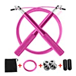 Risefit Professional Speed Jump Rope With Anti-Slip Handles, Tangle Free Adjustable Rope,High-Grade Skipping Rope...