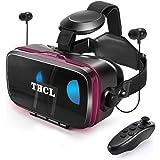 VRゴーグルvrゴーグルスマホ用 VR VRヘッドセット通話に応答する機能付きアンチブルーレンズ瞳孔/焦点距離調節 1080PHD画質 3D ゲーム映画動画4.7~6.5インチの iPhone Android などのスマホ対応 Bl