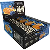 Warrior Raw HIGH Protein Bars (21g Protein Each) Low Sugar Chewy Granola Bars - Honey/Berry - Pack of 12 Snack Bars