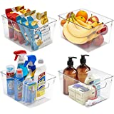 Sorbus Storage Bins Clear Plastic Organizer Container Holders with Handles - Versatile for Kitchen, Refrigerator, Cabinet, Fo
