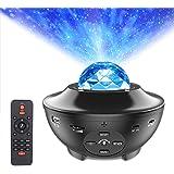 Star Projector Night Light, ALED LIGHT 2-in-1 Ocean Wave LED Starry Night Light Projector Built-in Bluetooth Speaker Sound Se