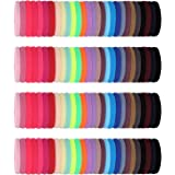 200 Pieces Seamless Cotton Hair Ties Thick Elastic Hair Bands Soft Stretchy Ponytail Holders for Women Girls (Multi-Color)