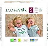 Eco by Naty Premium Pull On Pants for Sensitive Skin, Size 5, 4 Packs of 20 (80 Diaper Pants), 3.5 Kilograms, Packaging May V