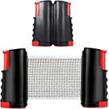 1Pc Portable Table Tennis Net Rack Retractable Black Replacement Ping Pong Accessories