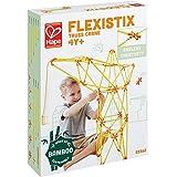 Hape Flexistix STEM Building Truss Crane, Featuring 94 Multi-Colored Bamboo Pieces