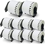 """BETCKEY - Compatible DK-2205 Continuous Length 2-3/7"""" x 100'(62mm x 30.48m) Replacement Labels,Compatible with Brother QL Lab"""
