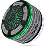 BassPal Shower Radios, IPX7 Waterproof Portable Wireless Bluetooth Speaker with LED Mood Lights, Super Bass HD Sound Shower,