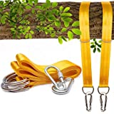 Bestie Online Tree Swing Hanging Straps Kit for Hammocks and Tree Swings, 150cm Long, Supports 500kg Person [Yellow]