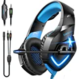 ONIKUMA Gaming Headset-Over Ear Gaming Headphone with Microphone,Noise Canceling Stereo Sound Noise,Soft Memory Ear Cup for P