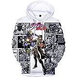 Lucky Park JoJo's Bizarre Adventure Unisex Hoodie 3D Printed Hooded Pullover Sweatshirt for Men Women Teen