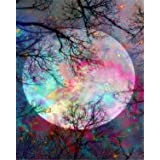5D Diamond Painting Kit Full Drill DIY Rhinestone Embroidery Cross Stitch Arts Craft for Home Wall Decor Moon 12x16inch