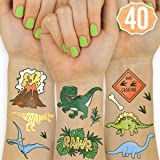 xo Fetti Dinosaur Tattoos for Kids - 26 Styles   Birthday Party Supplies Dinosaur Party Favors T-rex Decorations