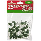 National Tree 25 Clear Replacement Bulbs for 50 Light Sets, 2.5 Volt (RBG-25C)