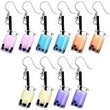 5 Pairs Pearl Milk Tea Dangle Earrings Bubble Tea Drop Earrings Boba Earrings Funny Earrings for Women