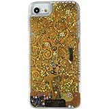 ARTiFY クリムト 生命の樹 スマホ アイフォン グリッター ケース iPhone SE(第2世代) iPhone6/6s iPhone7 iPhone8 ゴールド AJ00242