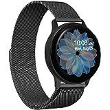VICARA for Galaxy Watch Active2 44mm/Galaxy Watch Active2 40mm バンド マグネット式 時計バンド 20mm ステンレス オシャレ 20mm ベルト for ギャラクシー ウォッチ Active 2 44mm(ブラック)