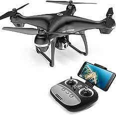 Holy Stone ドローン GPS搭載 1080P広角HDカメラ付き フォローミーモード オートリターンモード 操縦可能距離500M 生中継最大距離300M 画像遅延が無い 最大飛行時間15分 高度維持 モード1/2自由転換可 国内認証済み HS100G